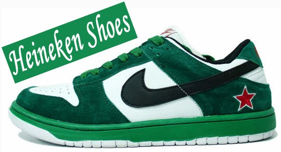 heineken, nike, tenis, shoes
