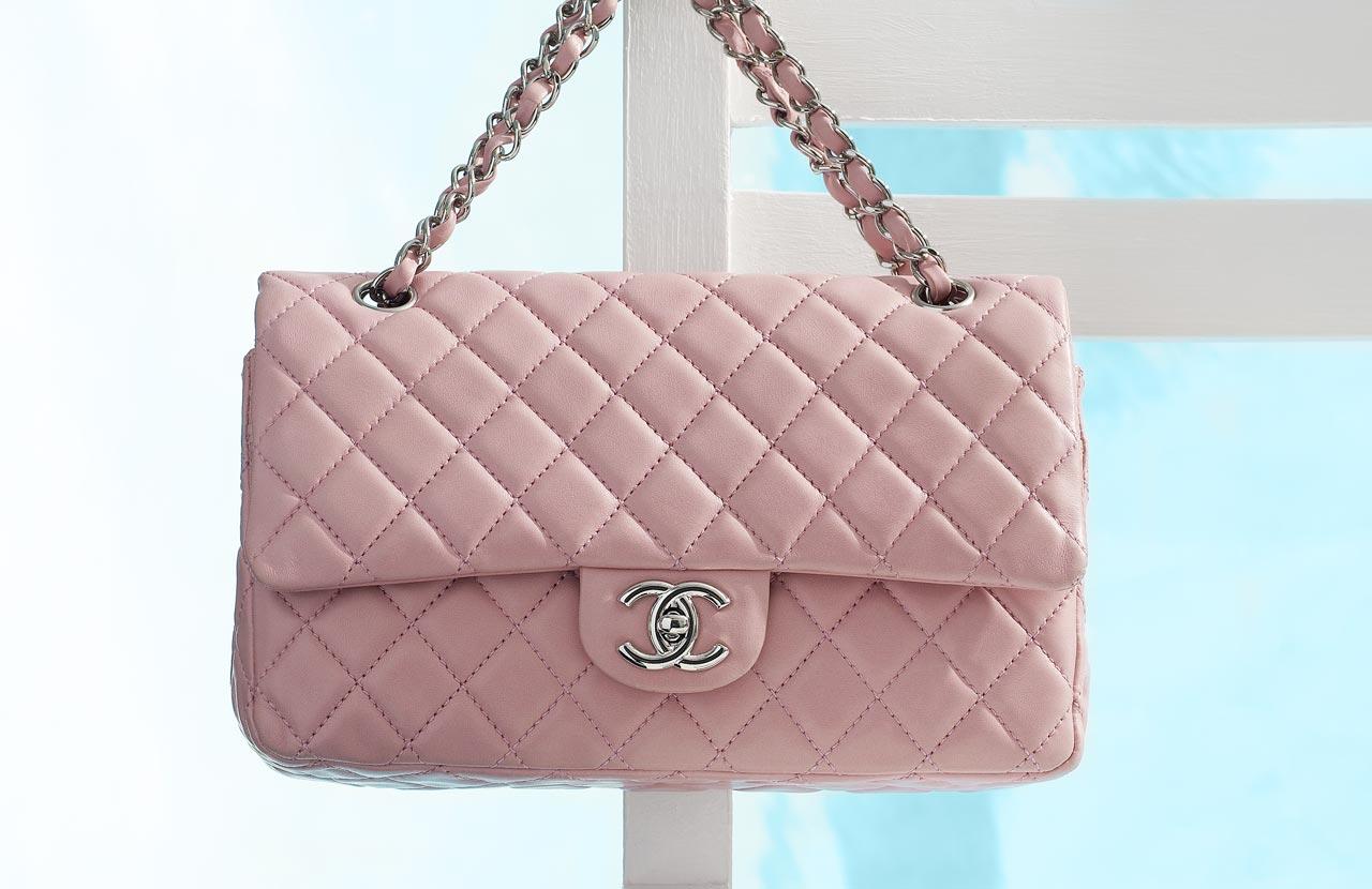 bolsa, chanel, 2.55, cor de rosa, pink, bebe,