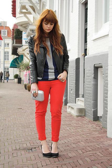 como usar, calça vermelha, dicas
