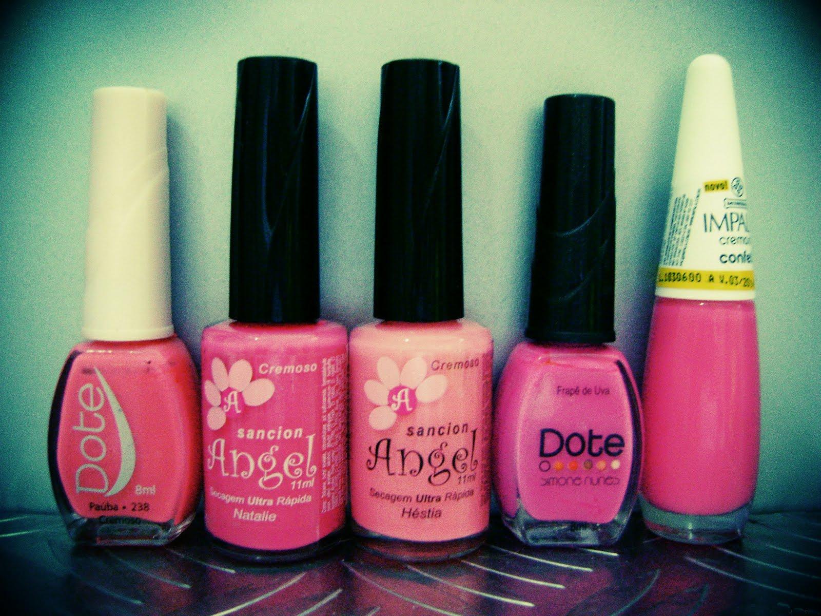 esmaltes, pink, rosa