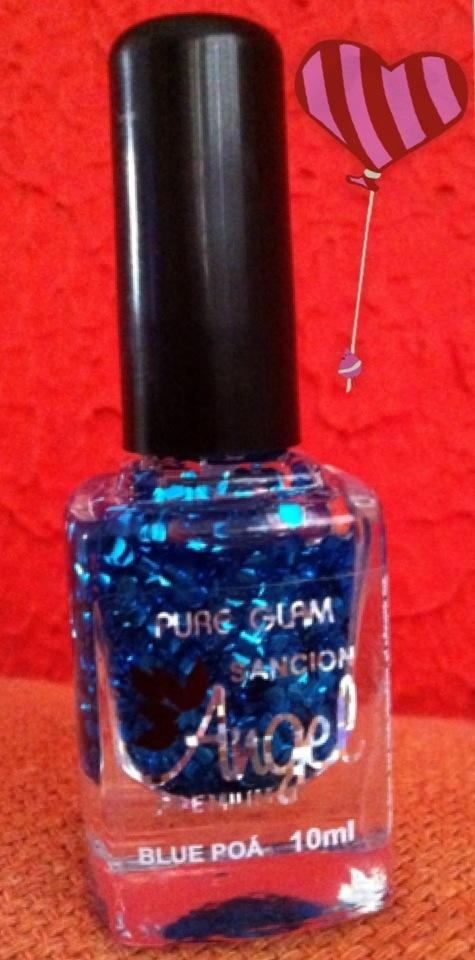 esmalte, glitter, brocal, azul,