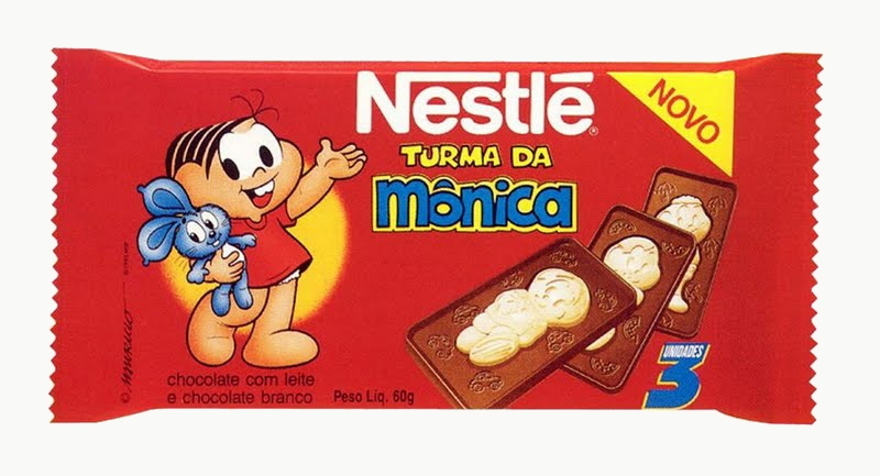 turma da monica, chocolate
