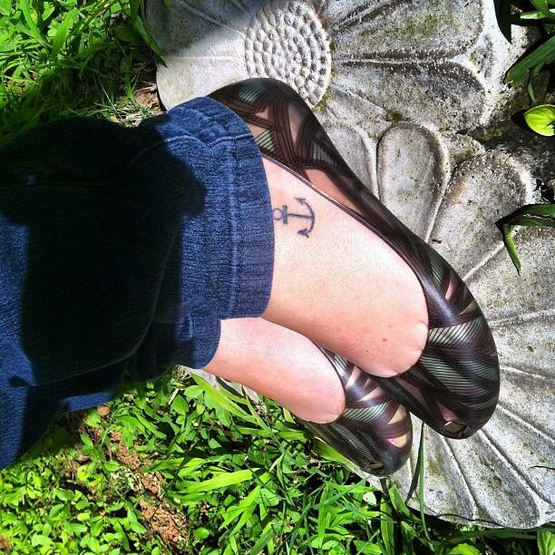 tattoo, tatuagem, instagram, ideias, inspiração, ancora, pé, giovana quaglio