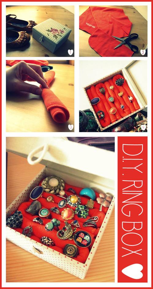 como fazer, porta joias, aneis, diy