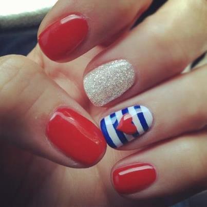 unhas, nail art, navy