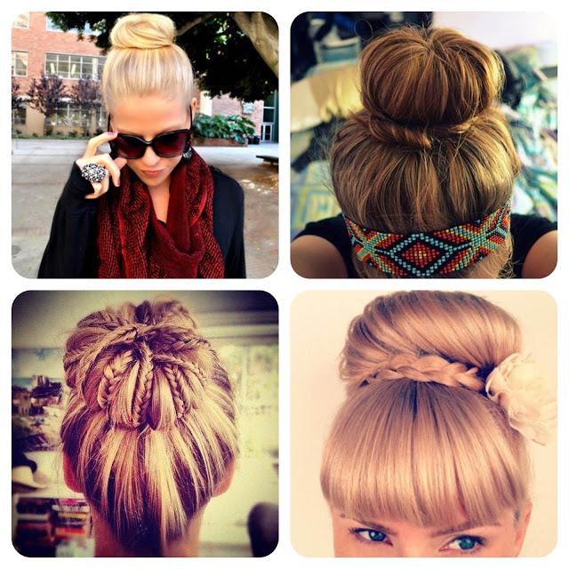 coque, ideias, penteados, trança, inspiração, cabelo