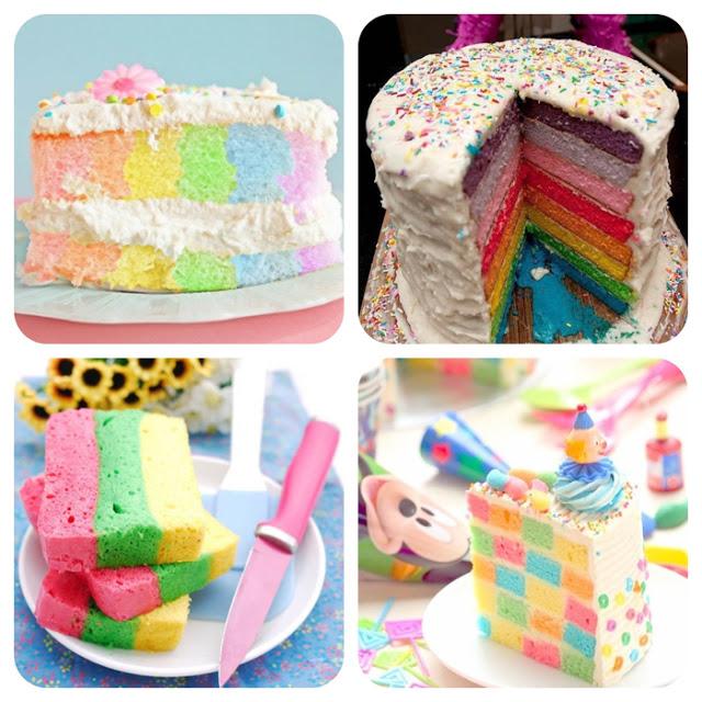 rainbow cake, bolo colorido, ideias de bolo, bolo decorado