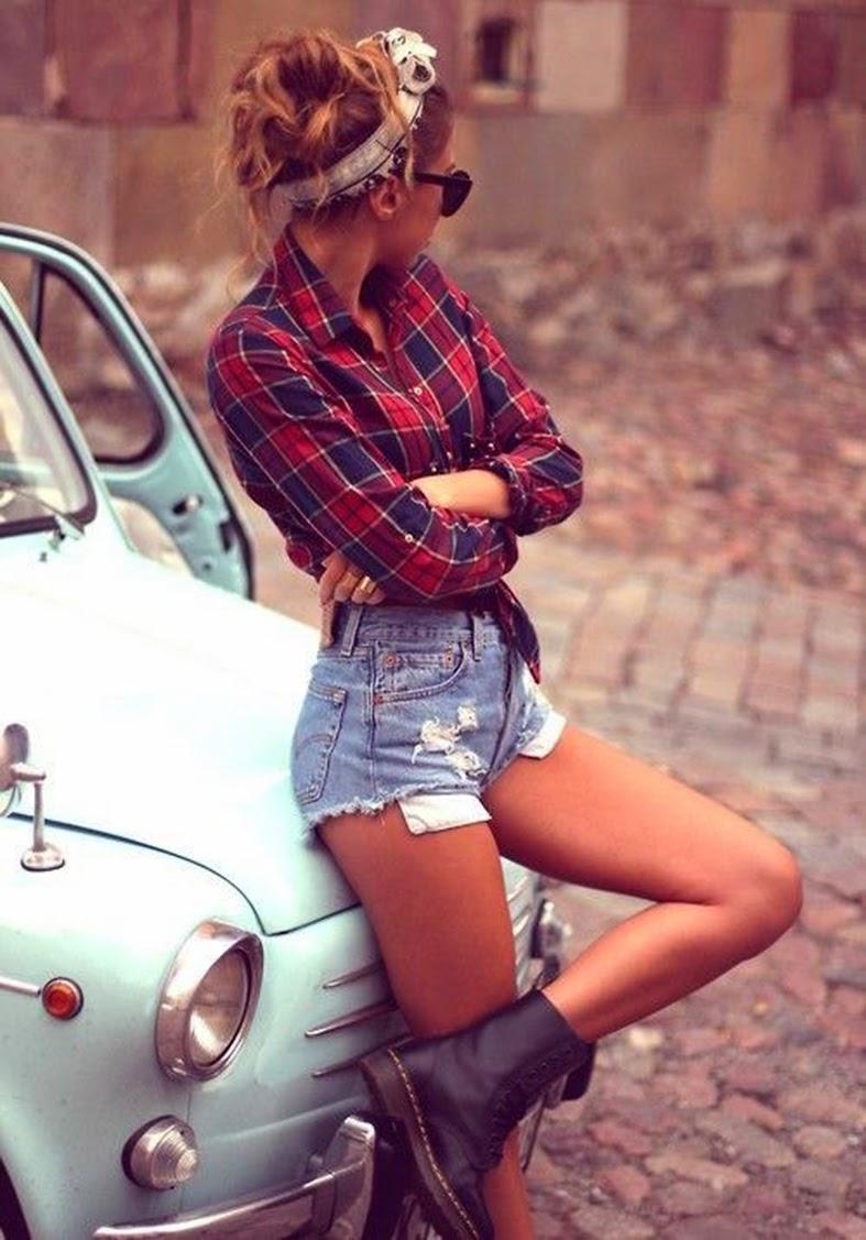 inspiração, ideia, shorts, jeans, camisa, xadrez, blog, moda, blogueira, giovana quaglio, mogi, mirim, guaçu, campinas