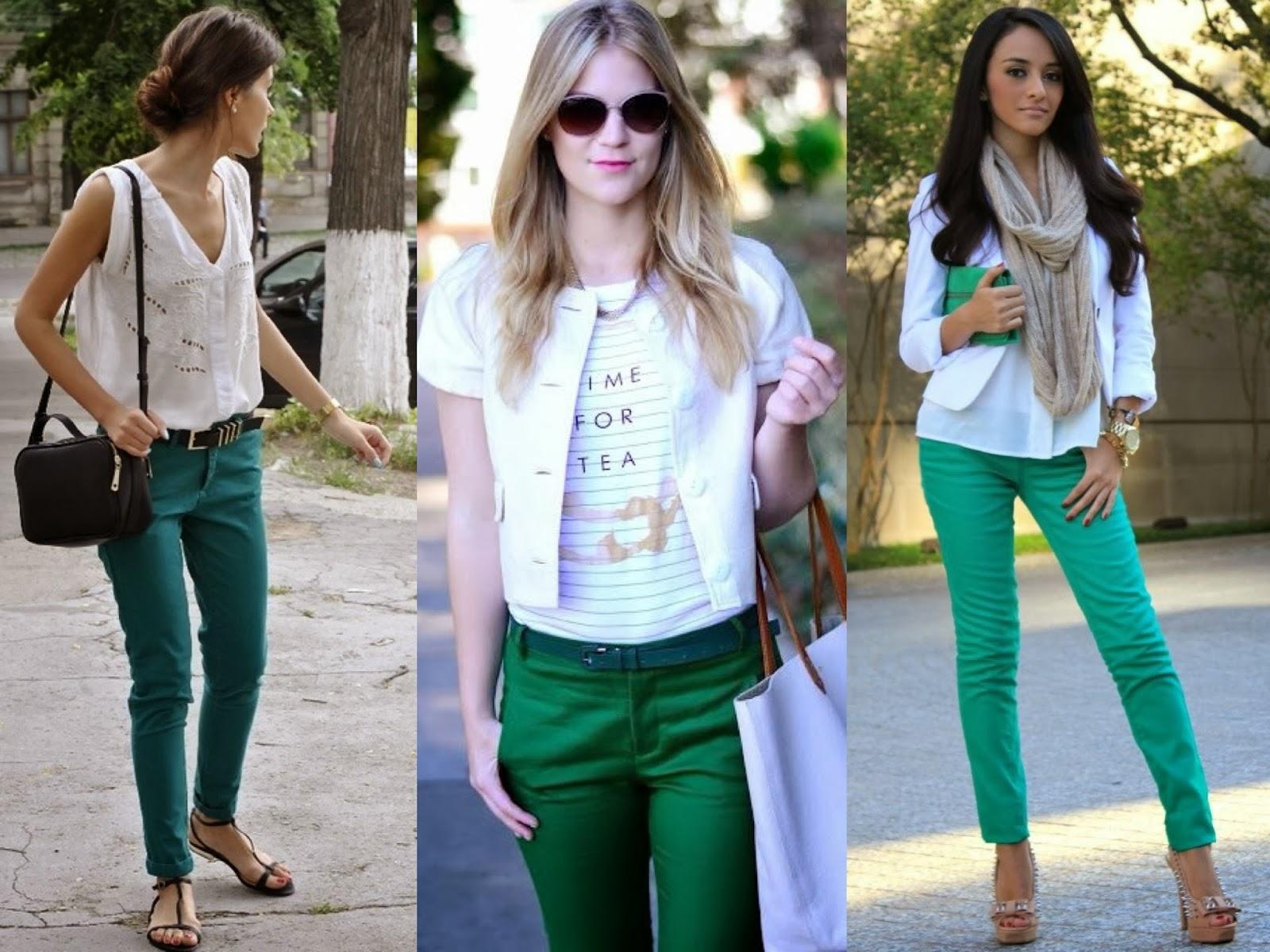 como usar, calça verde, looks, ideias, inspiração