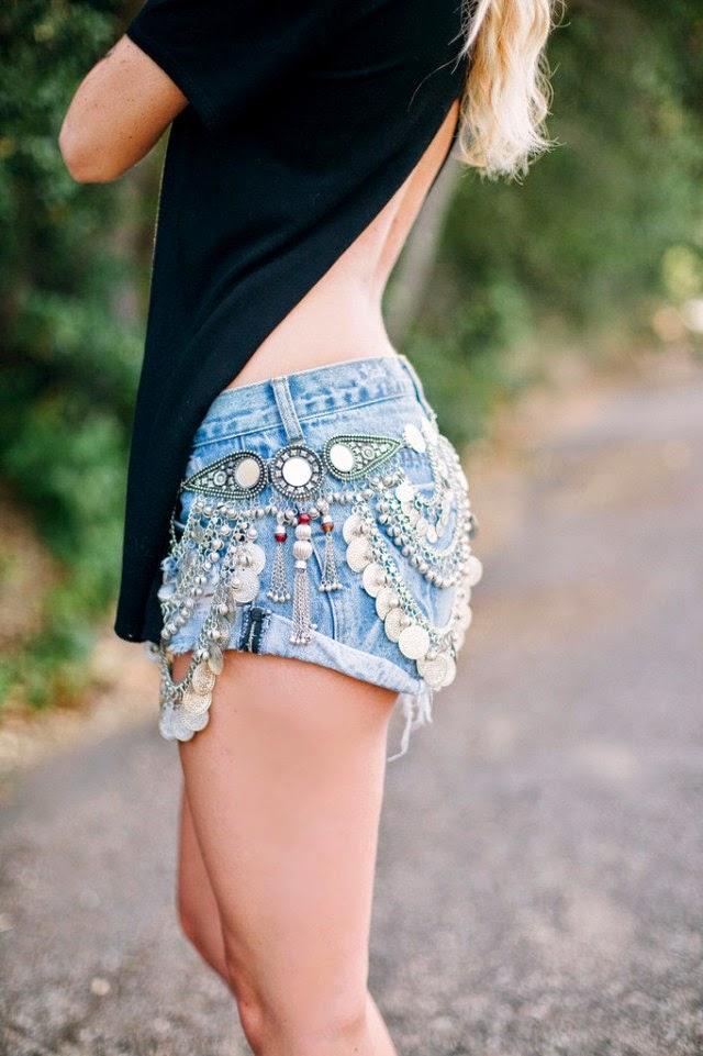 cinto, cigana, shorts jeans, estilo cigana, acho tendência, giovana quaglio,