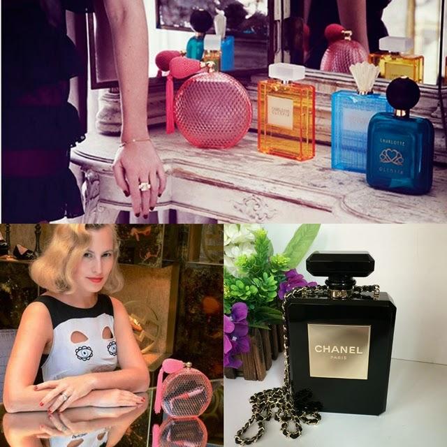 bolsa, clutch, perfume, bottle, chanel, lanvin, charlotte olympia, acho tendencia