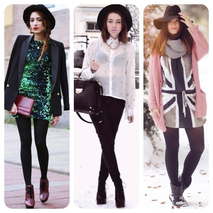 como usar, chapeu preto, blog de moda, ideias, como combinar, look