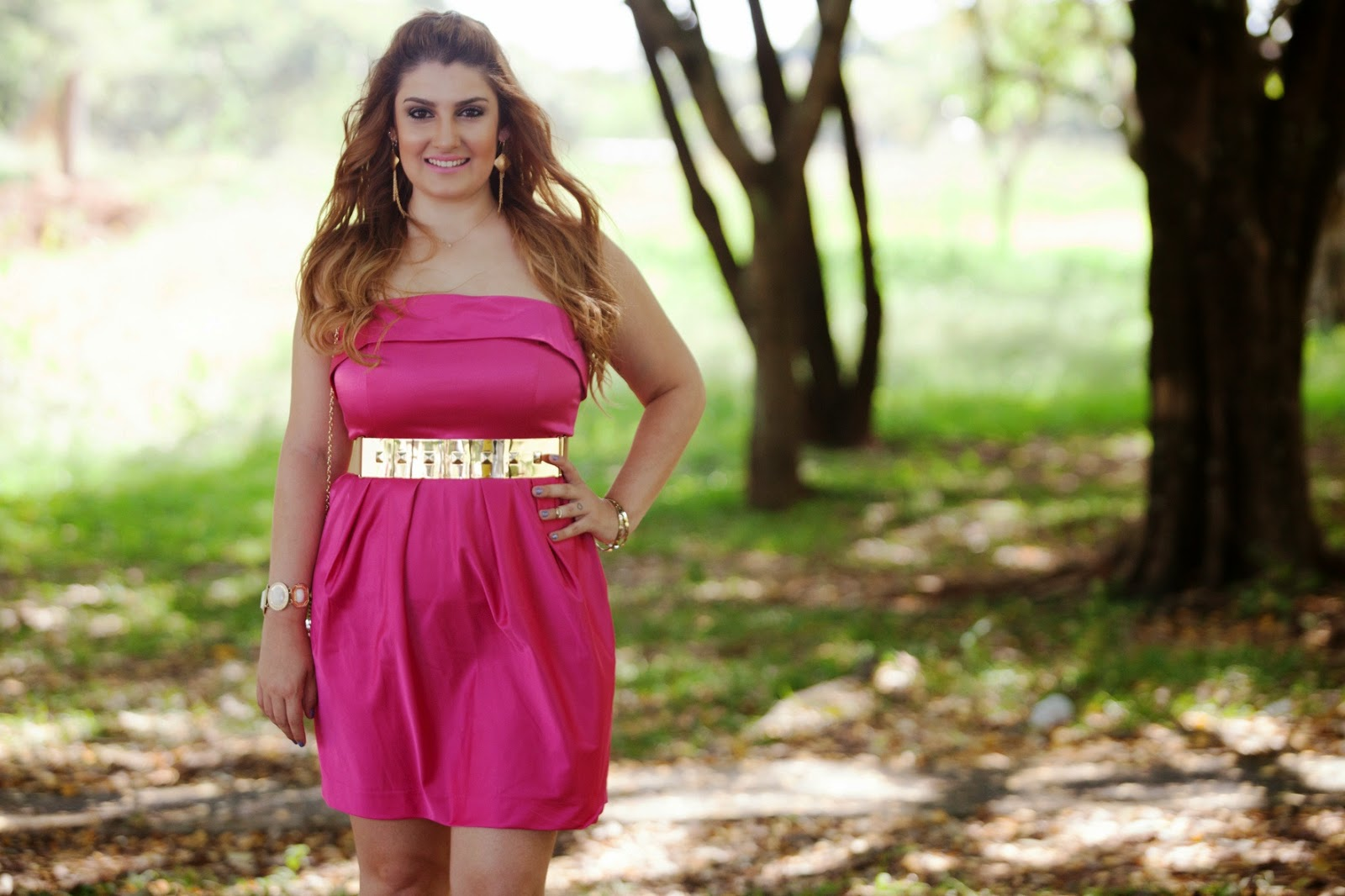 look do dia, vestido pink, vestido rosa, vestido de cetim, patricia bonaldi, patbo, c&a, giovana quaglio