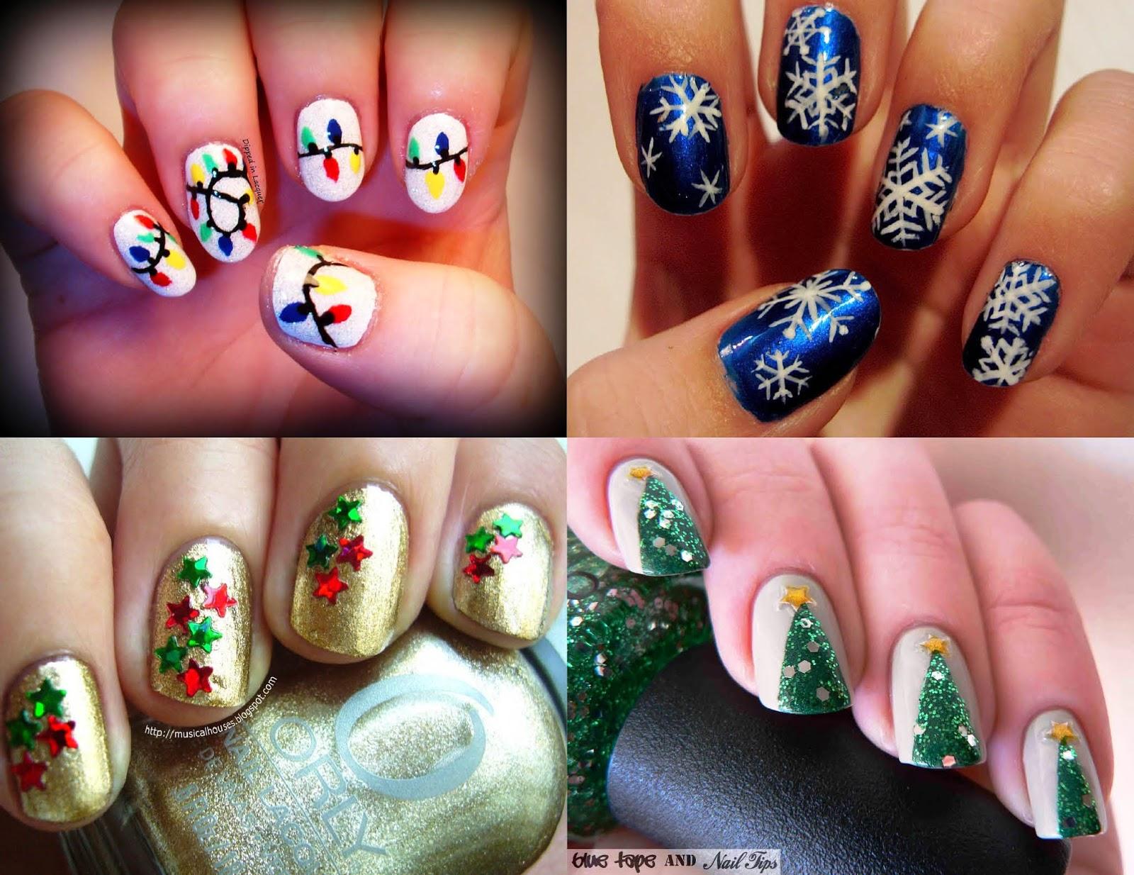 acho tendencia, nail art, decoracao, unhas, natal, arvore, christmas