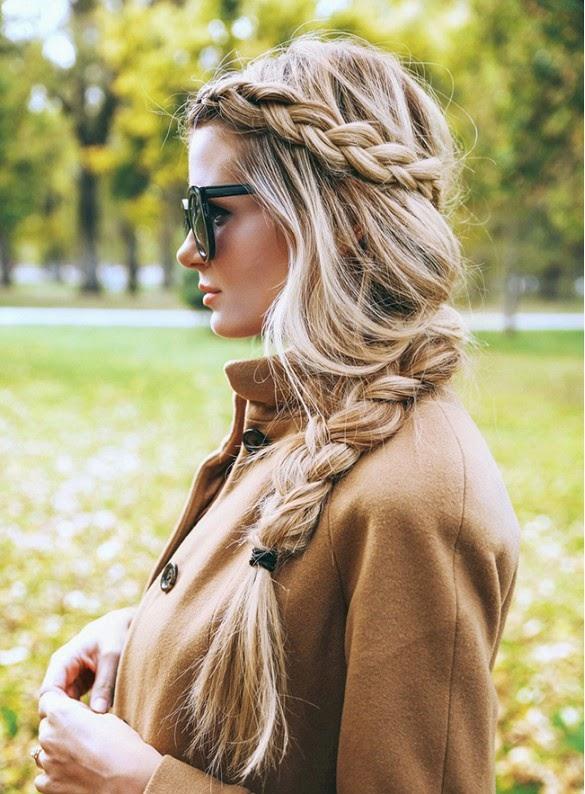 inspiração, trança, cabelo, dutch braid,