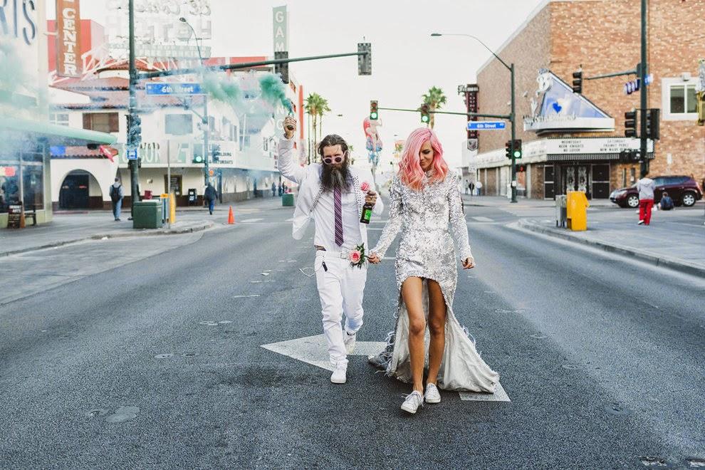 casamento, alternativo, las vegas, destination wedding, tattoo, cabelo rosa, rock wedding, acho tendencia