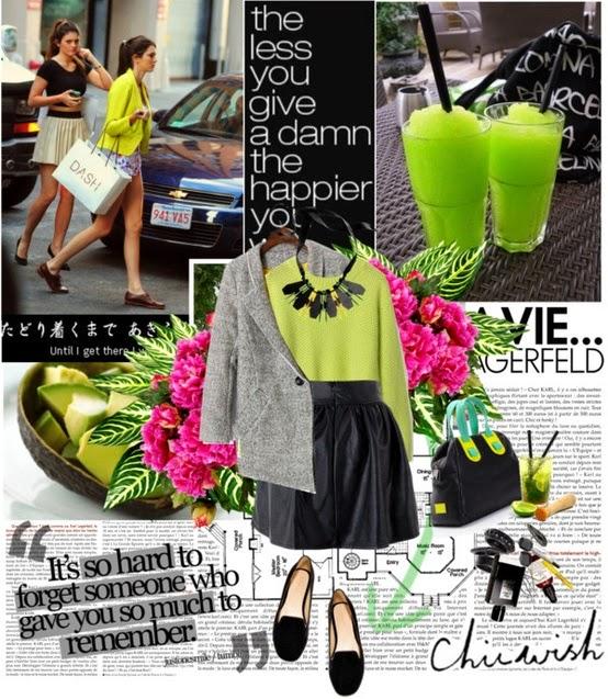 look, preto e verde, inspiração