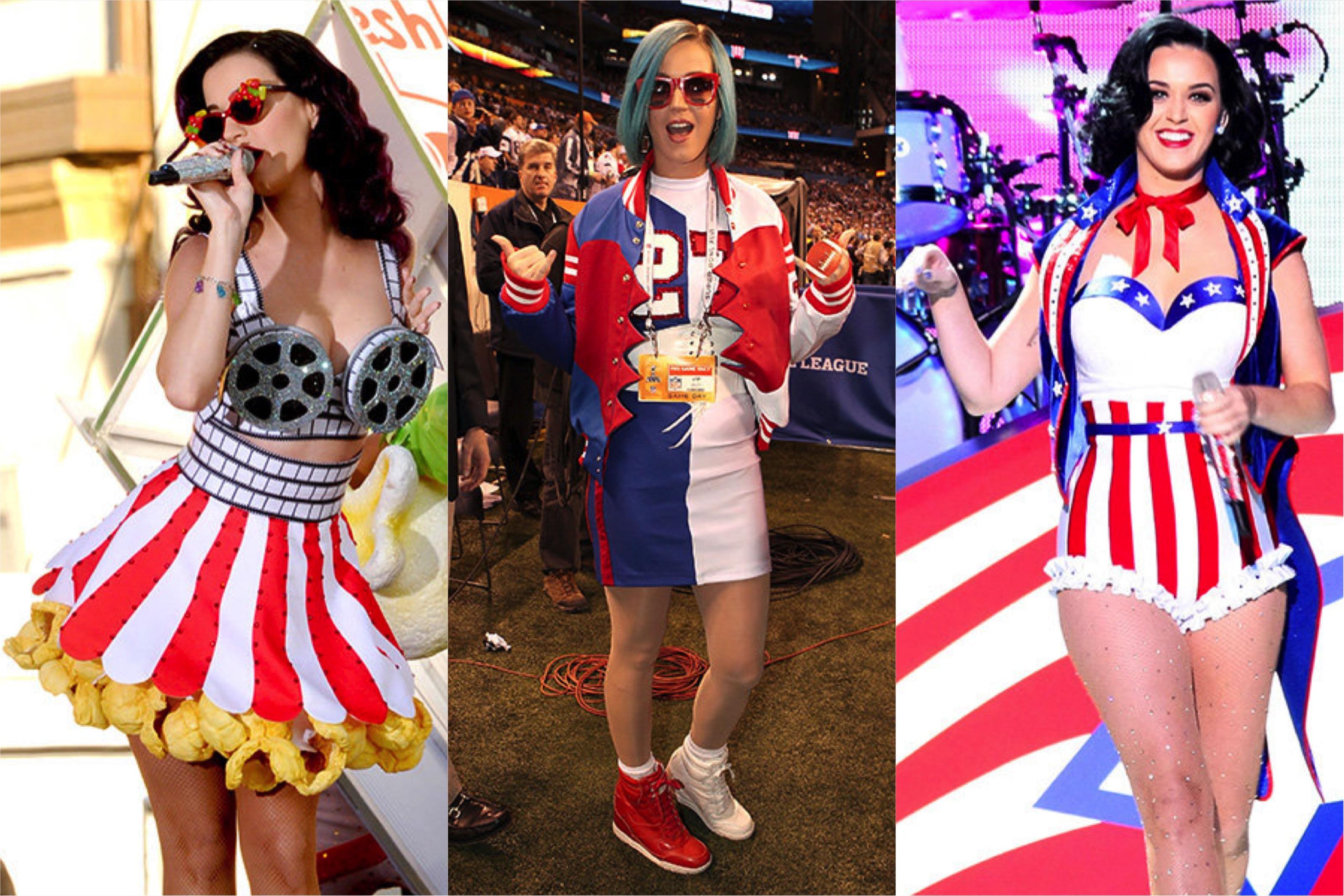 katy perry, looks, roupas, show, estilo, inspiração