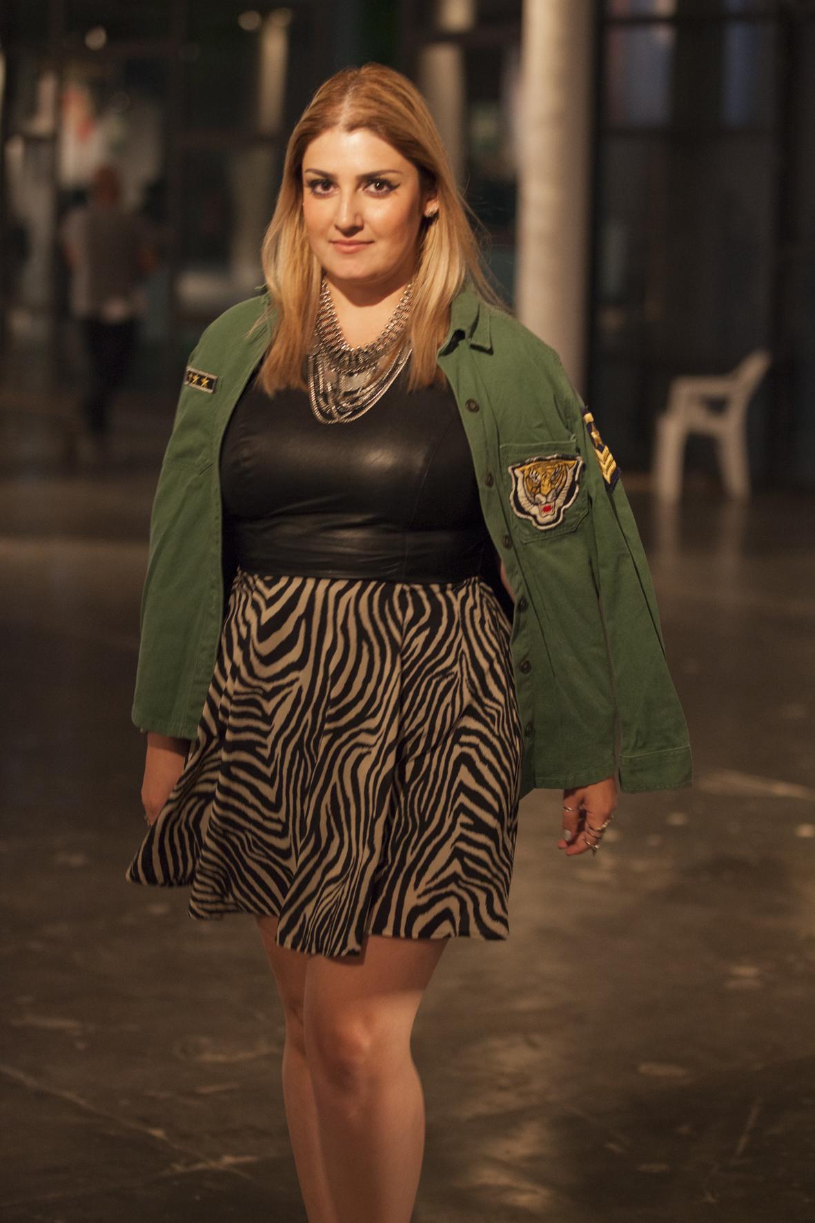 blogueira de moda, Look Militar, Animal Print, Zebra, SPFW, Giovana Quaglio, Blog Acho Tendência