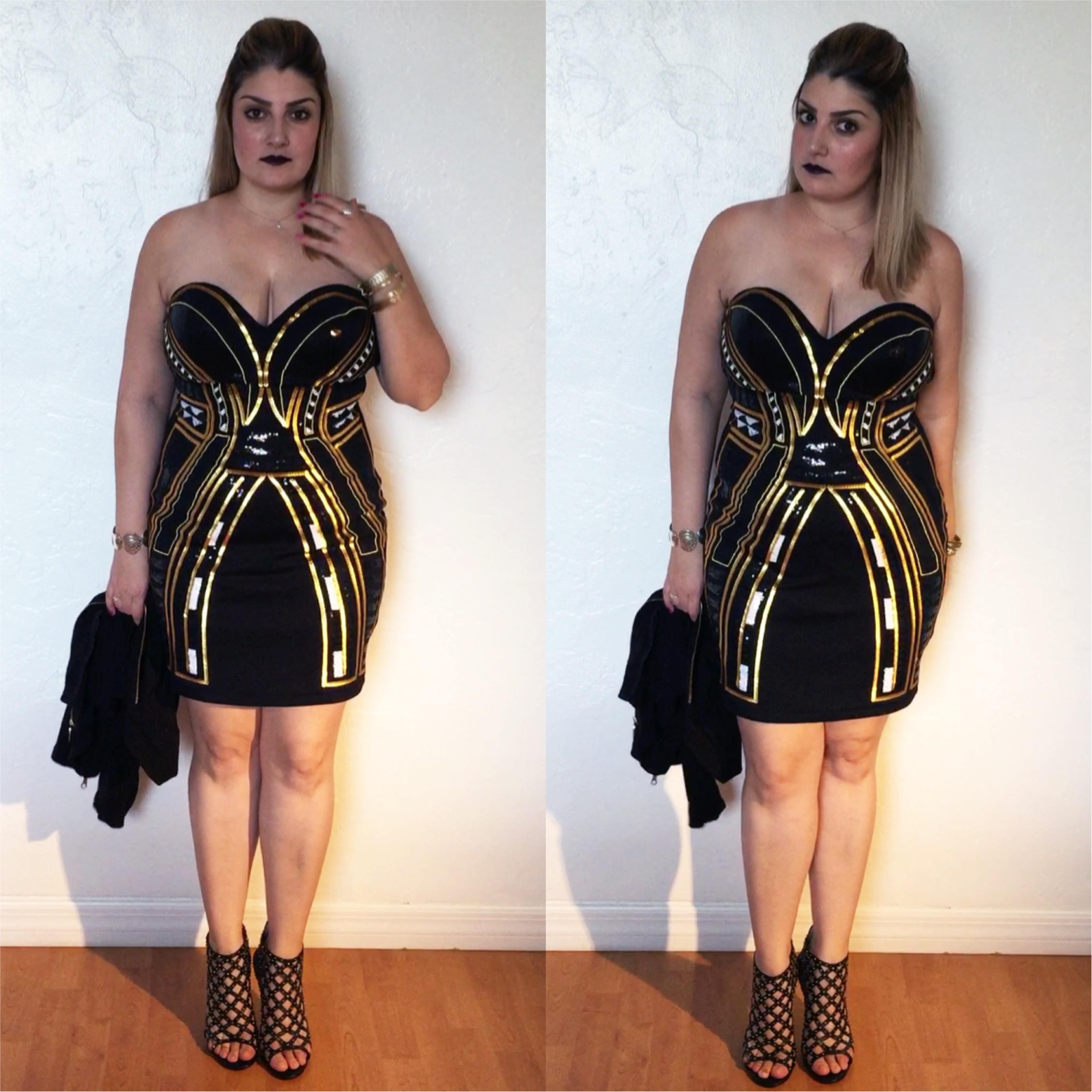 Look do dia, Giovana Quaglio, H&M, Michael Kors, Preto e Dourado, Vestido de Festa, blogueira de moda