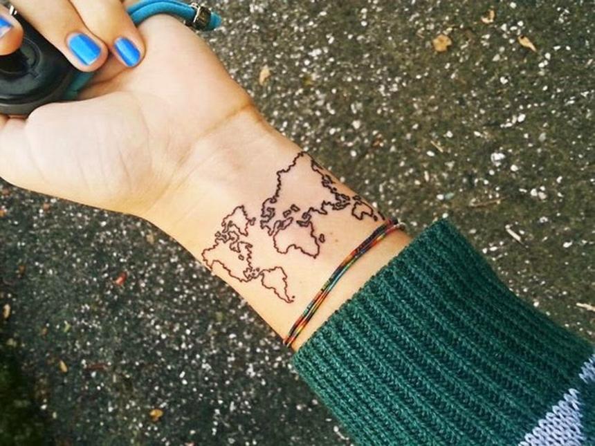 Tatuagens da Blogueira Chiara Ferragni, Tattoo Ideas, Mapa Mundi