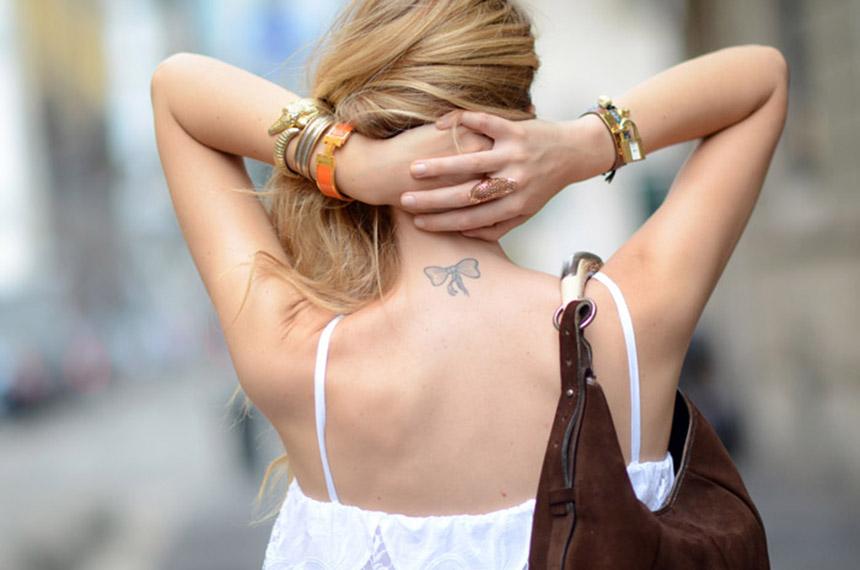 Tatuagens da Blogueira Chiara Ferragni, Tattoo Ideas, Laço