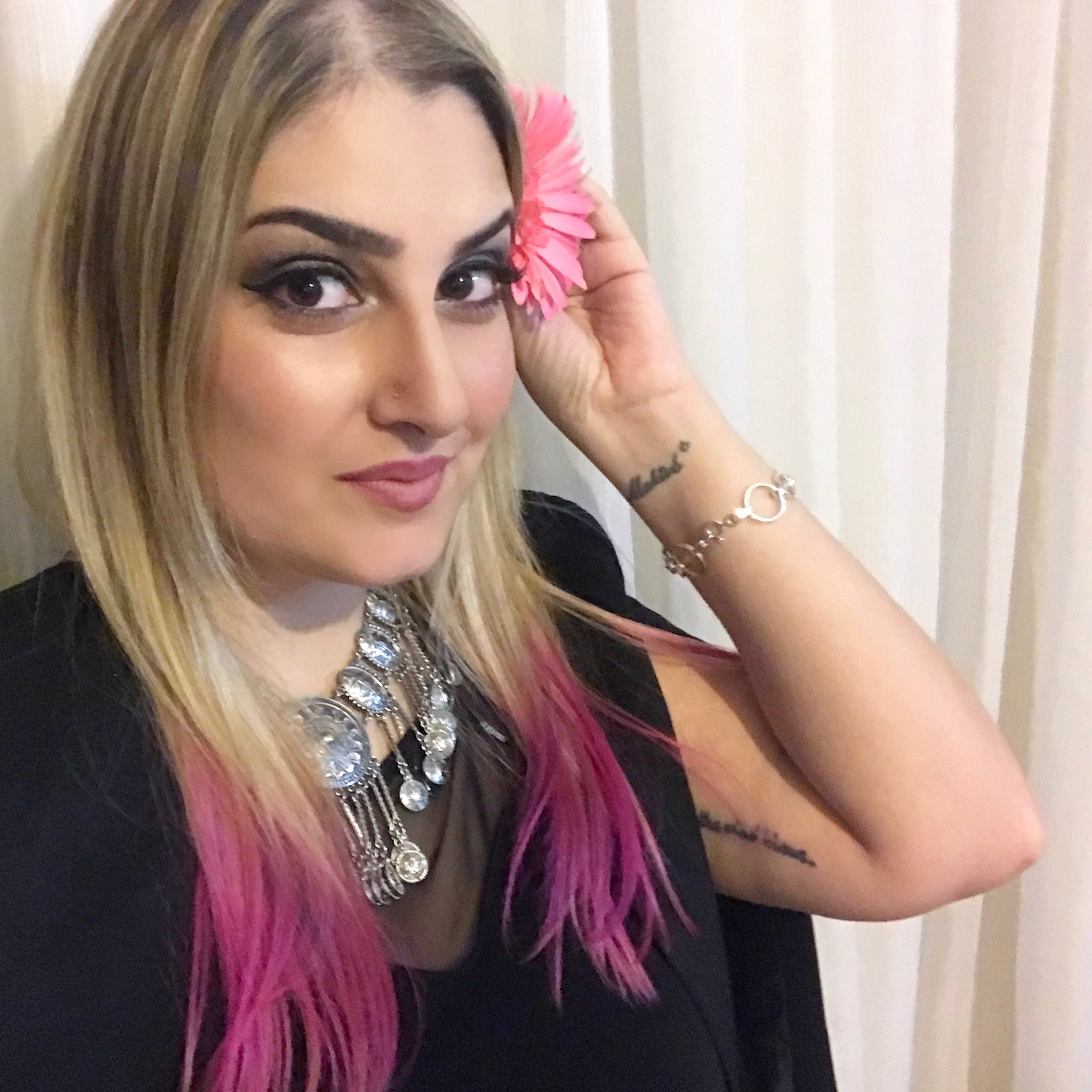 cabelo, cor de rosa, pontas, pink hair, giovana quaglio, como fazer diy