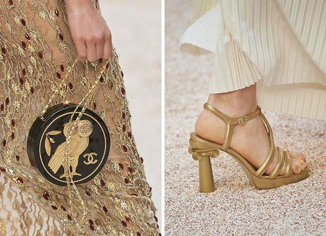 chanel, grécia, desfile, resort, 2017, 2018, paris, fotos, detalhes, look, modelos, sandalia, bolsa, coruja