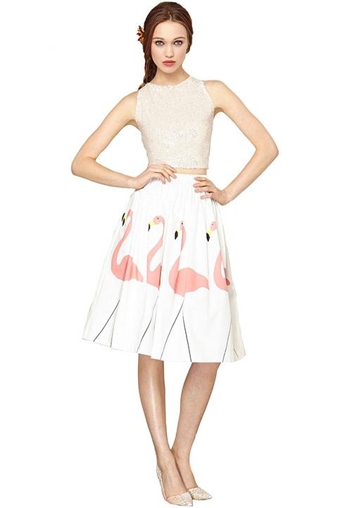 flamingo, acessorios, coisas, decoracao, roupas, saia