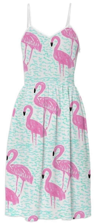 flamingo, acessorios, coisas, decoracao, roupas, vestido